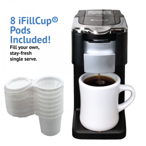i360 Single Serve K Cup Brewer and Fillable Coffee Pods