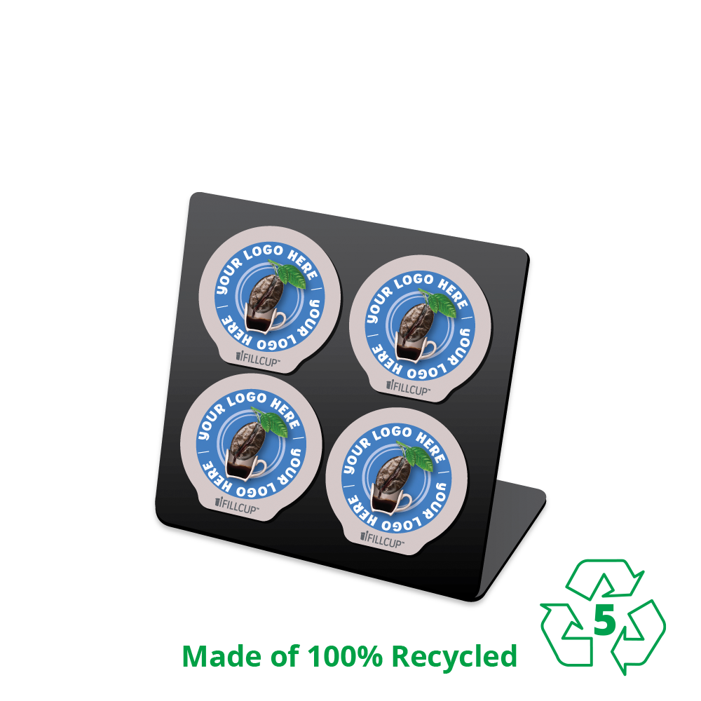 iFillCup 4 Pod Holder, Made of 100% Recycled, Number 5 Polypropylene
