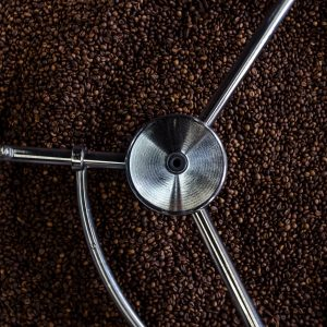 Coffee being roasted.