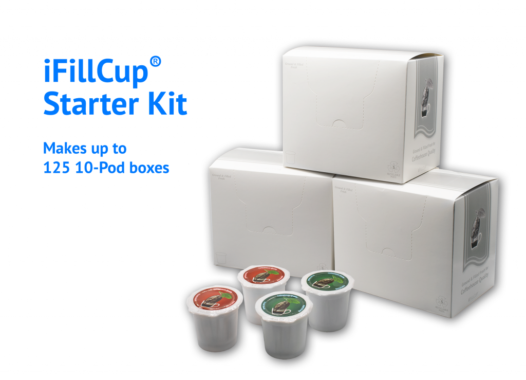 iFillCup Starter Kit, Boxes and Pods