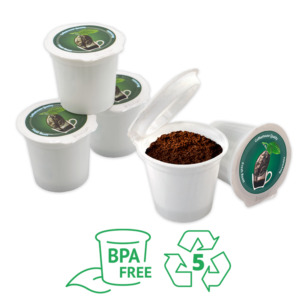 Our pods are BPA free & made out of recyclable materials