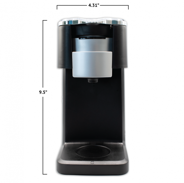 Front View i360 Brewer 9.5 inches tall by 4.31 inches wide)