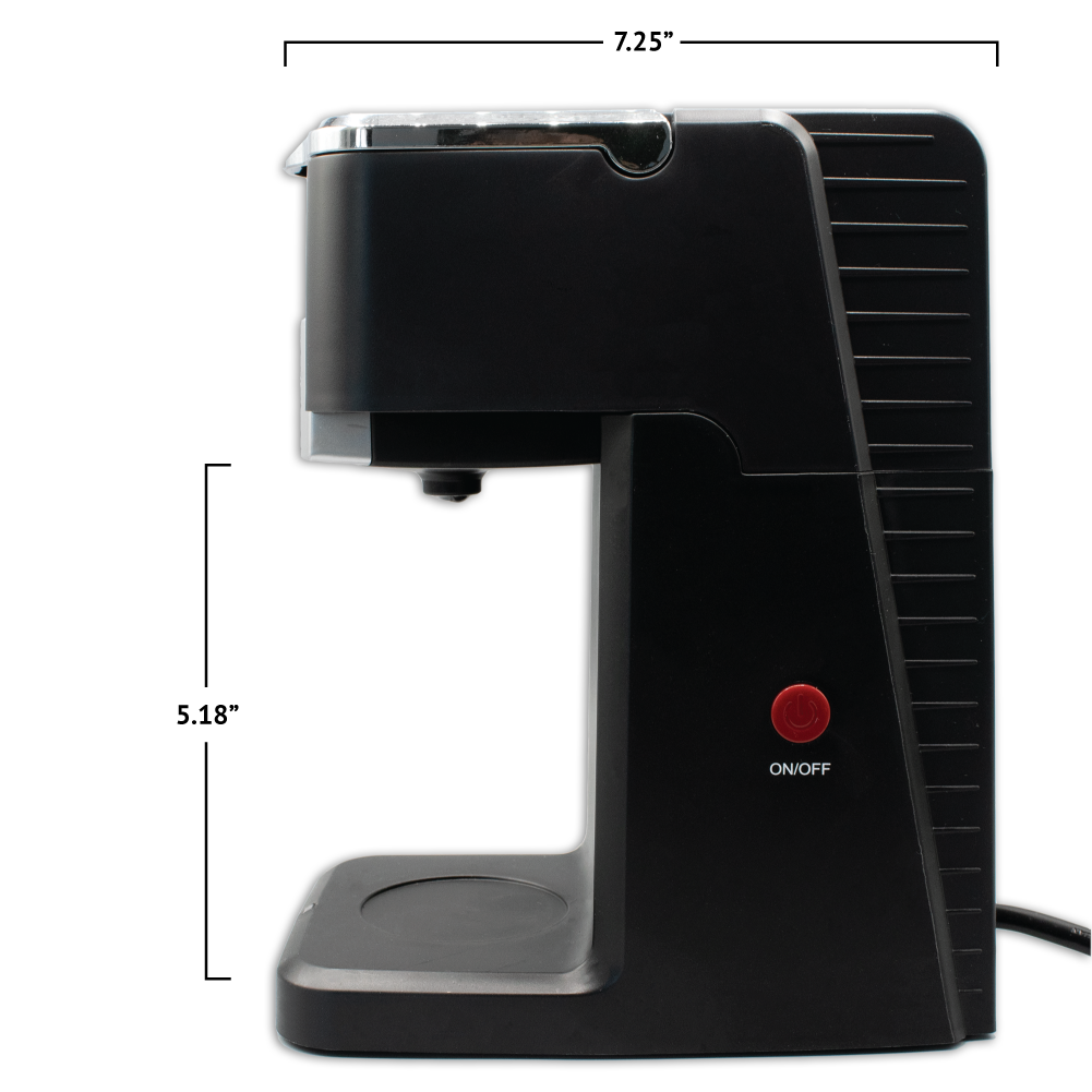 i360 Brewer with Dimensions (5.18 inches tall by 7.25 inches wide)