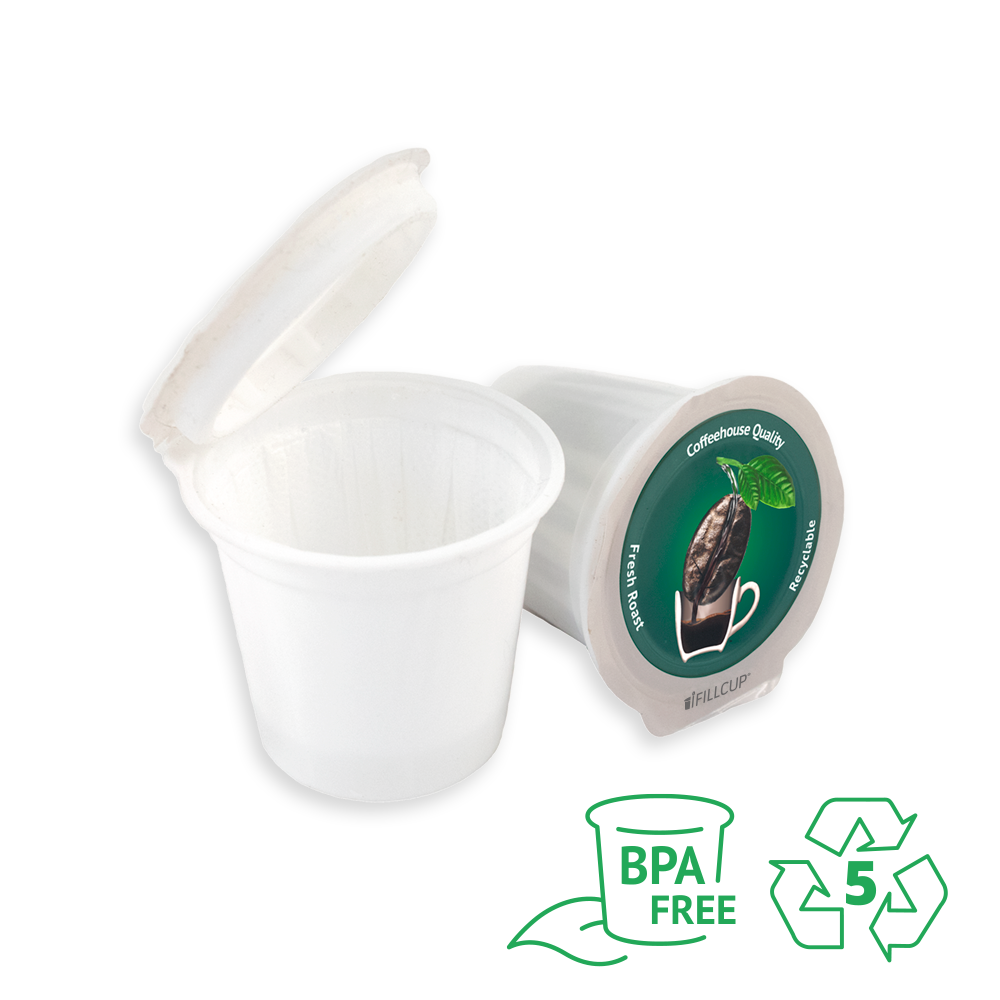 iFillCup, 7 Color Solution, Green Lid, BPA Free, Made of 100% Recyclable Number 5