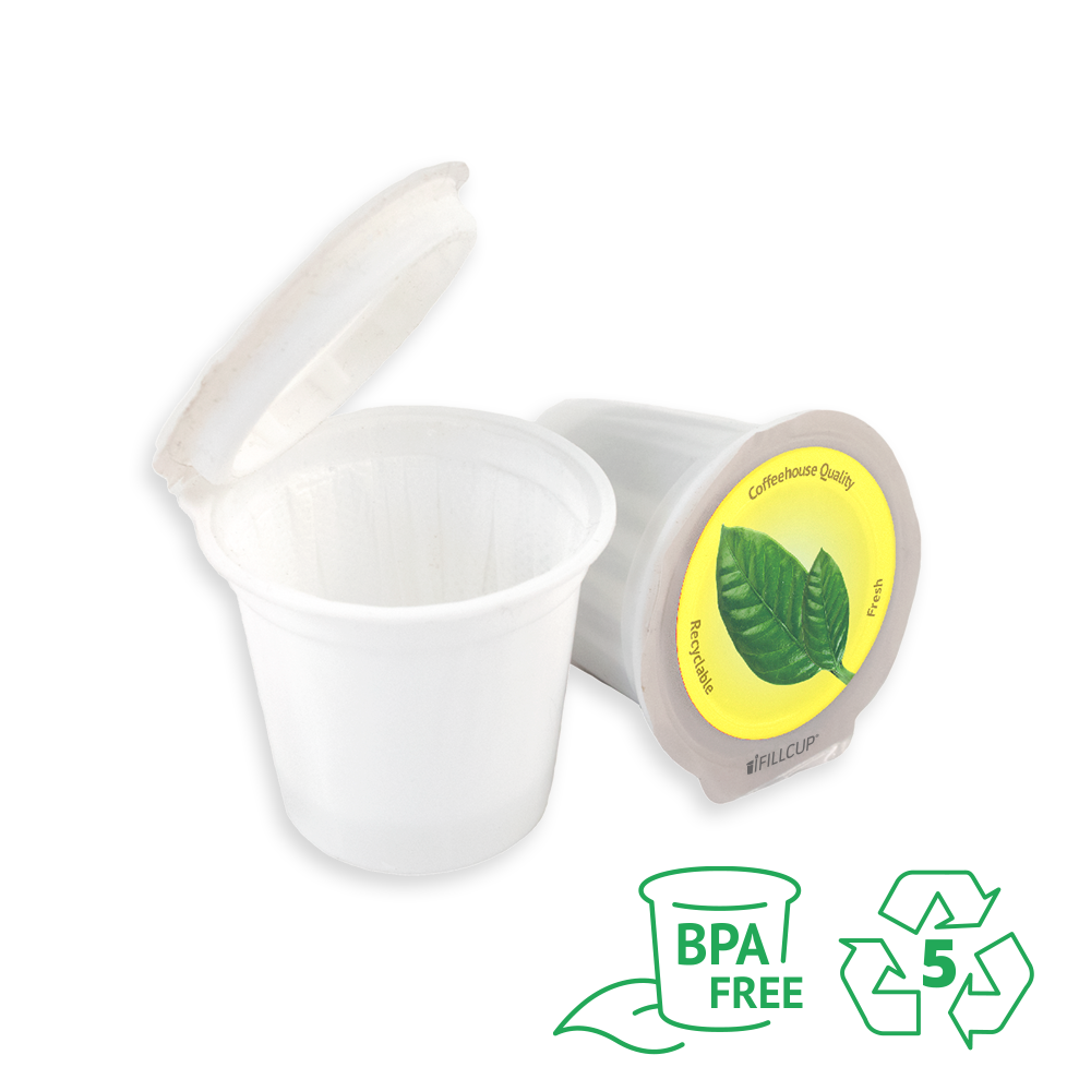 iFillCup, 7 Color Solution, Yellow Lid, BPA Free, Made of 100% Recyclable Number 5