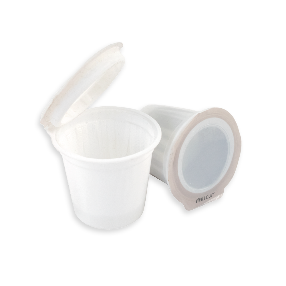 iFillCup, Fillable K Cup Single Serve Coffee Pod, Generic White, Blank Lids