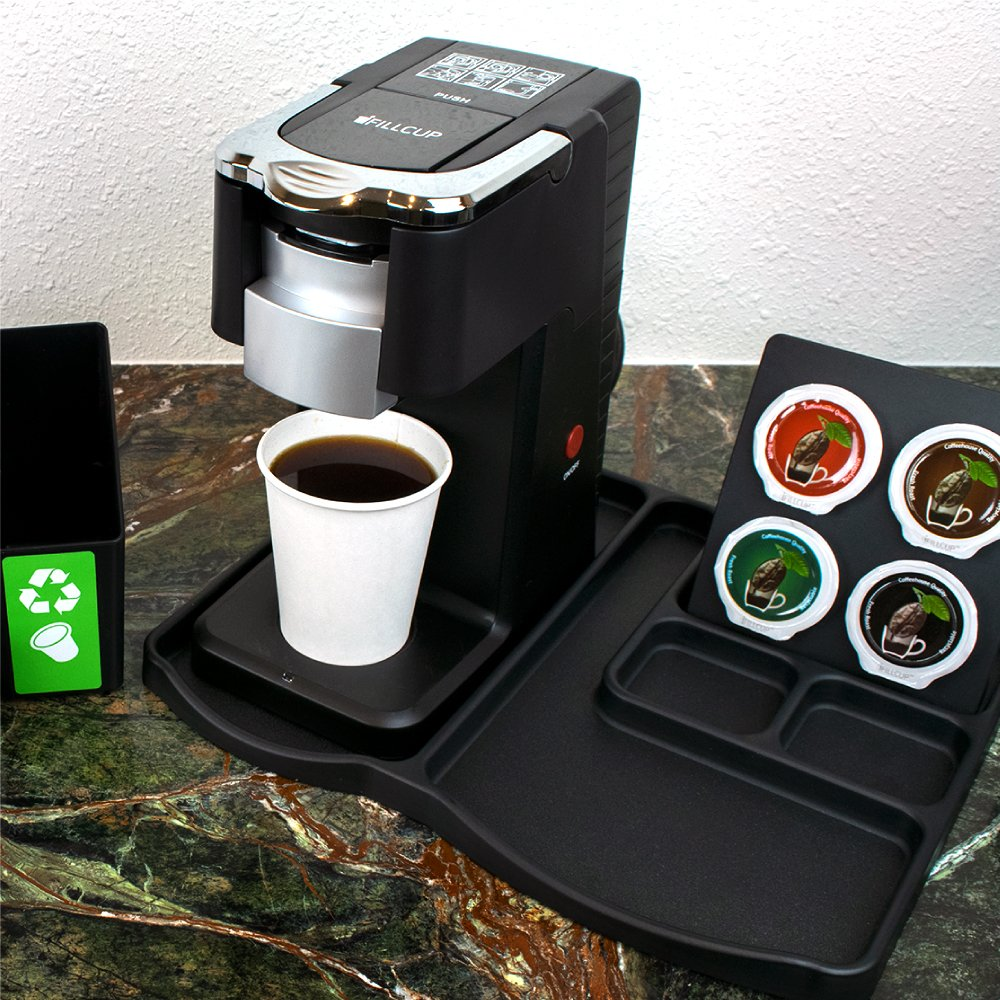 iFillSystems Hotel Program, i360 Brewer, Brewer Tray, Pod Holder, Pod Recycle Container