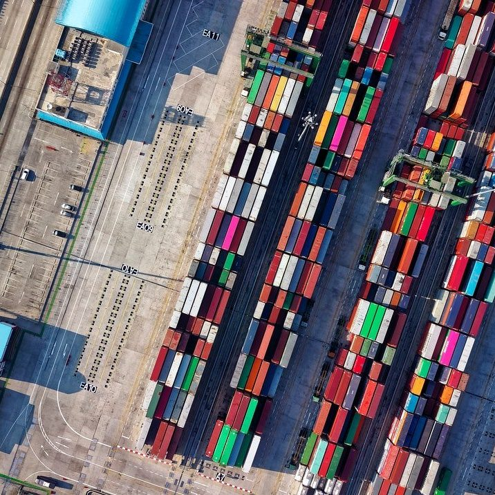 aerial-view-photography-of-container-van-lot-1427107