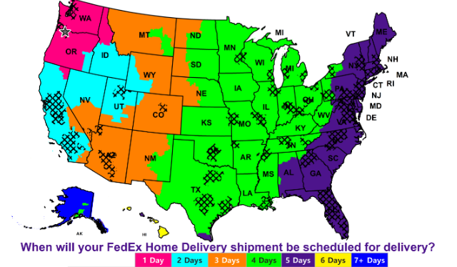 FedEx Home Delivery Schedule